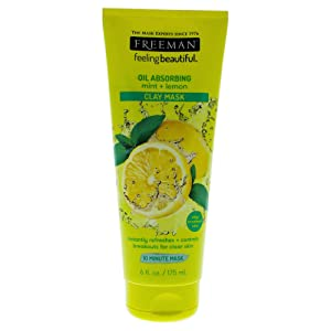 Freeman Feeling Beautiful Facial Clay Mask, Mint and Lemon, 6 Ounce