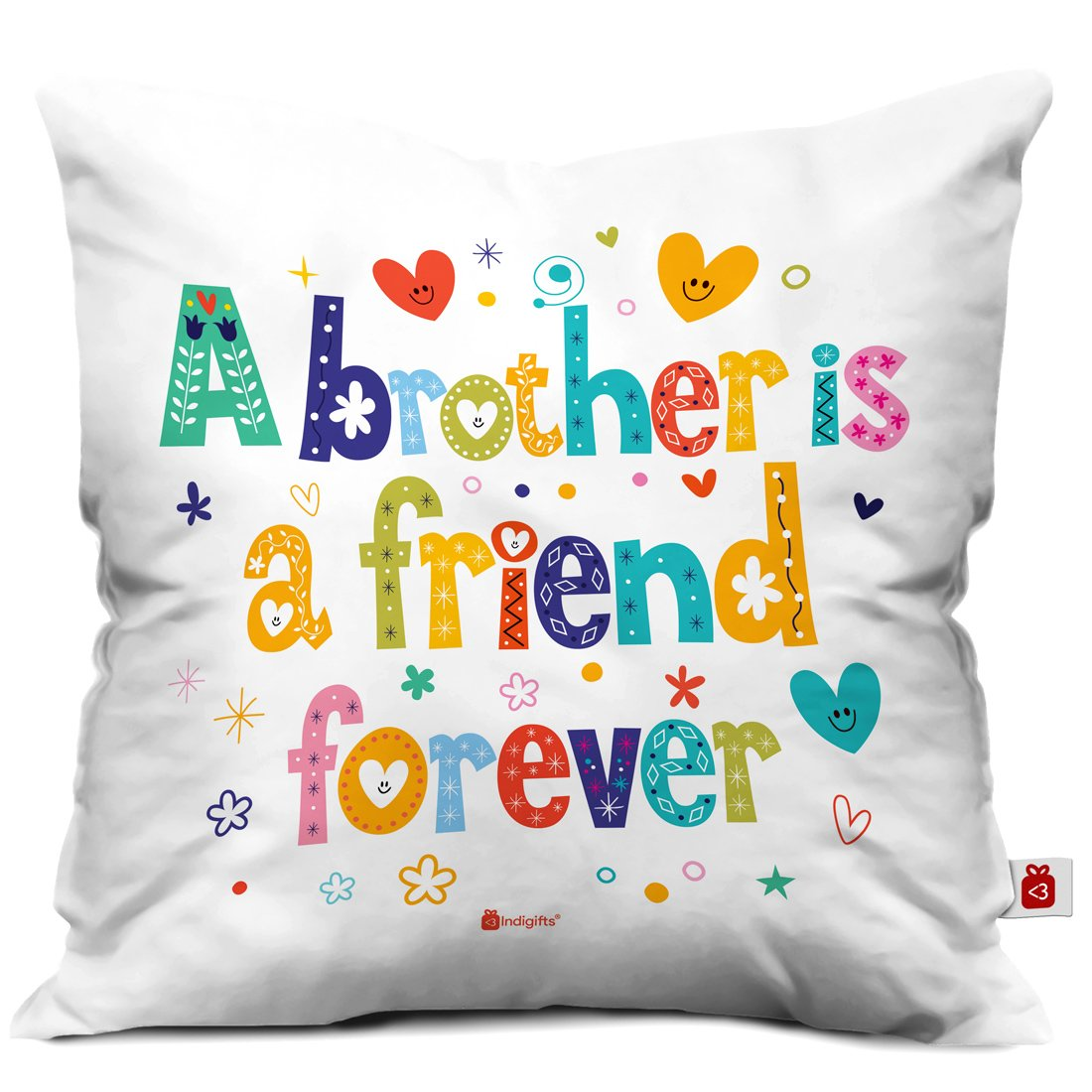 Indi ts Bro Is A Friend Forever Quote Printed Cushion Cover 12