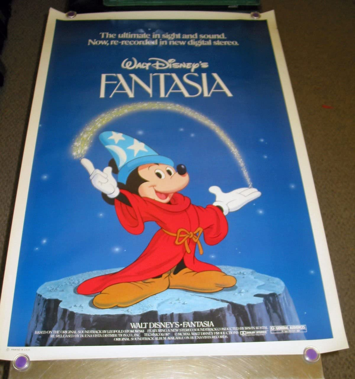 Fantasia Original 1982 27x41 Rolled Disney One Sheet Movie Poster Mickey Mouse At Amazon S Entertainment Collectibles Store