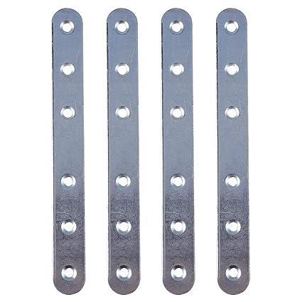 "Flat Steel Brackets Straight Mending Plates Repair Fixing Joining 4/"" 10x 100mm"