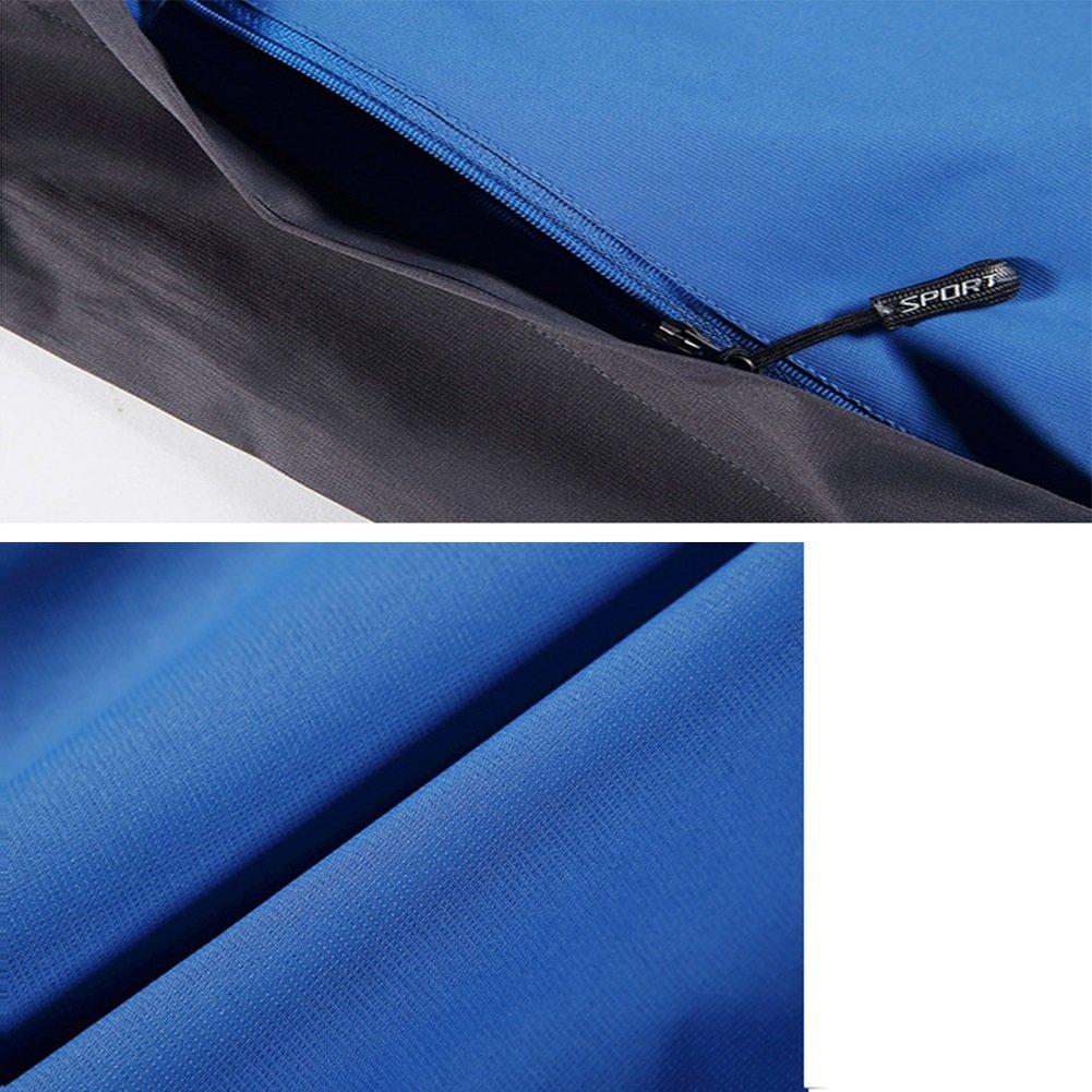Color : Blue, Size : XXXL NIAN Waterproof Jacket Men Sportswear Outdoor Hooded Camping Hiking Mountaineer Running Jackets