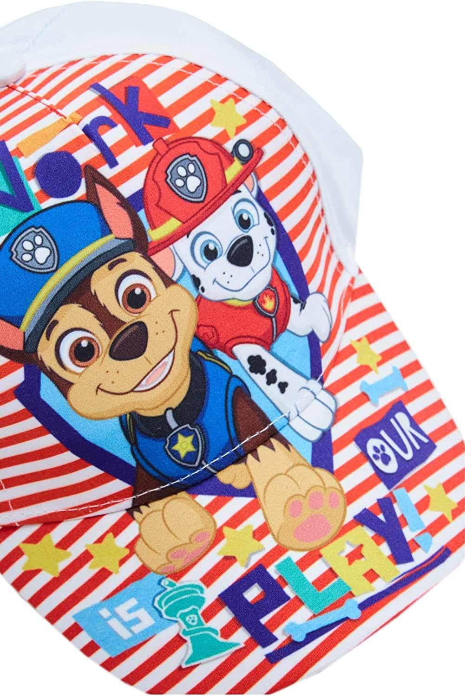 pour Enfants Kappy 100/% Coton Casquette de Patrouille Paw Casquette de Baseball avec Les Chiens Chase et Marshall Le Travail est Notre Jeu!