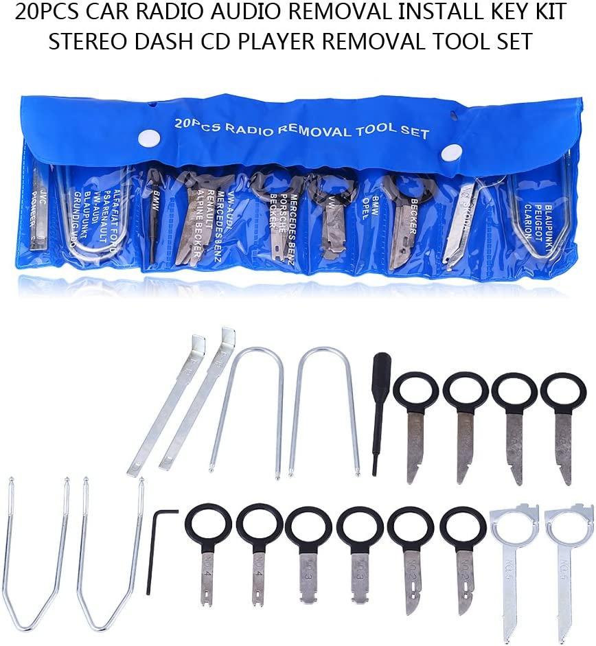 Professional 20pcs Kit For Installing And Removing Car Radio Stereo CD Player