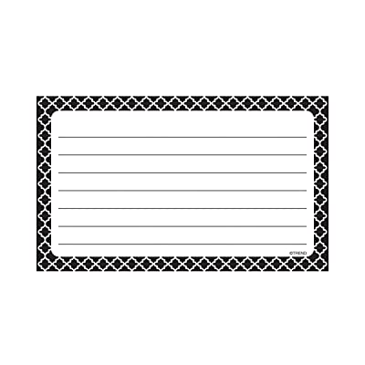 Trend Enterprises Moroccan Black Lined Terrific Index Cards: Toys & Games
