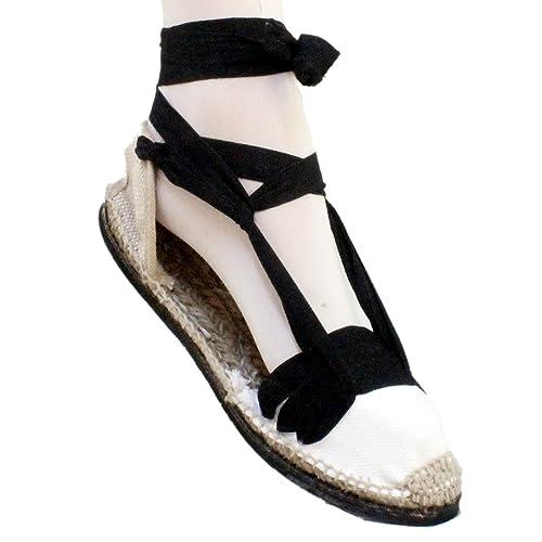 Alpargatas Tabernero de betas negras con suela de goma - Espardenyes Tres Vetes negres amb sola de goma - Negro, 37: Amazon.es: Zapatos y complementos
