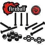 Fireball Dragon Black Stainless Steel Skateboard Hardware Set | Superior Strength Rust Free Mounting Bolts