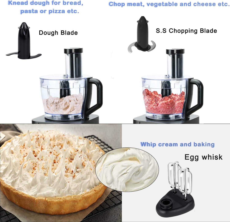 Procesador de Alimentos, 11 en 1 Robot de Cocina Multifuncion (Licuadora, Picadora, Multi Mezclador con Cuchilla para Masa) 1100W 3.5L+1.2L TopStrong: Amazon.es: Hogar