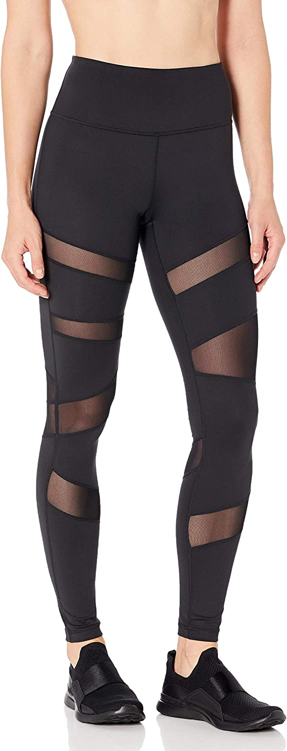 Amazon Brand - Core 10 Women's (XS-3X) 'Icon Series' The Warrior Mesh High Waist Yoga Legging -28