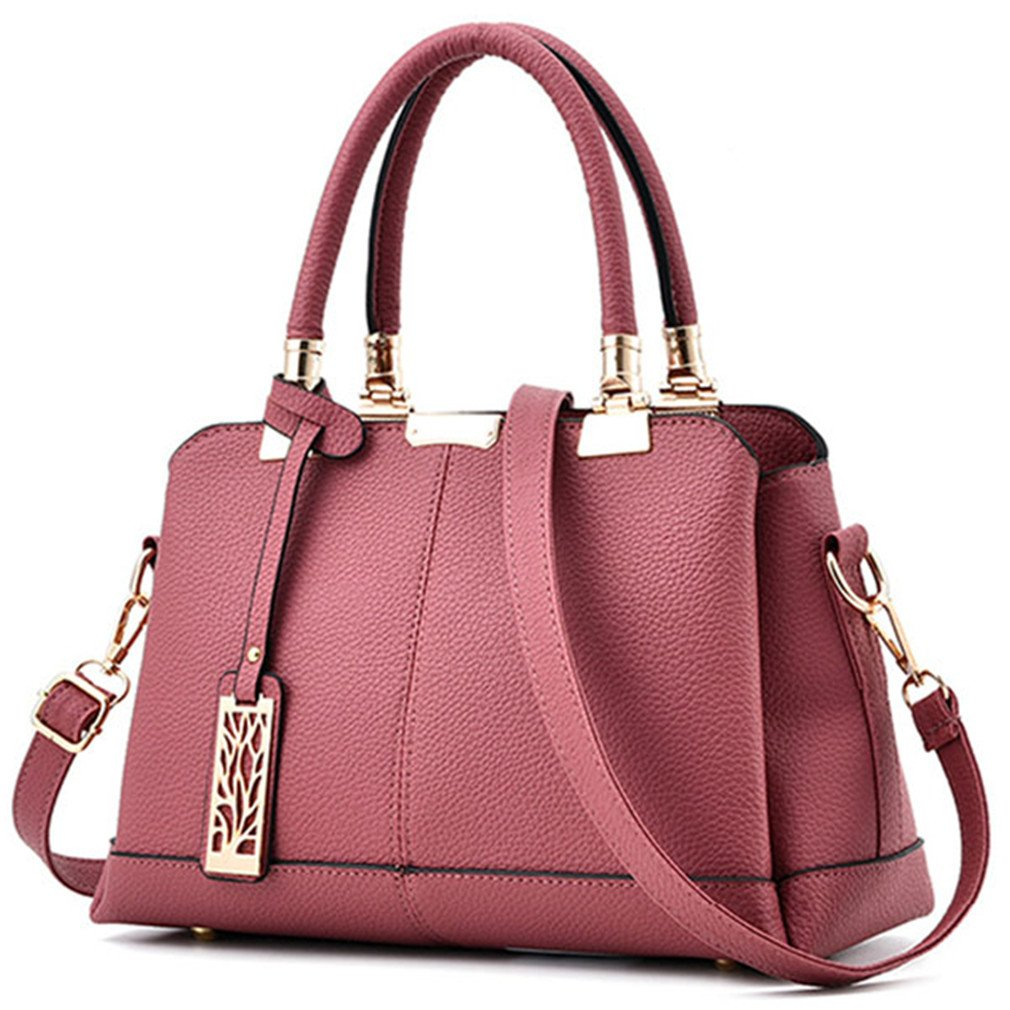 Chic-Dona Classic Pu Leather Women Handbags Tassel Black Women Messenger Bags Elegant Ladies Tote Bag Shoulder Bag rubber pink