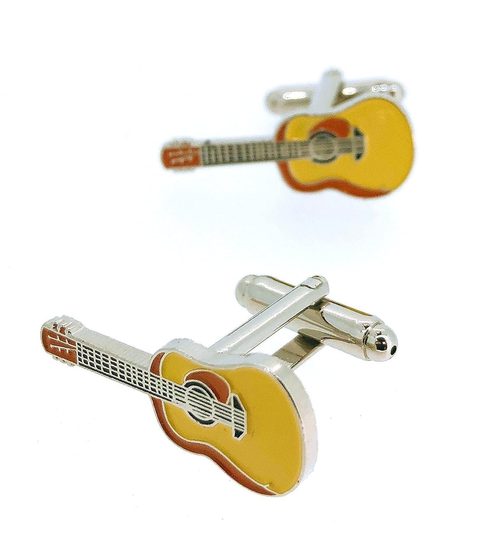 Gemelos para Camisa Guitarra Española Esmaltada Modelo II: Amazon ...