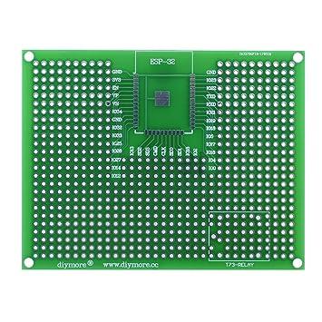 Diymore 5PCS Doble Cara Junta de PCB Doble Cara Tarjeta Placa Prototipo Tablero de Circuito del