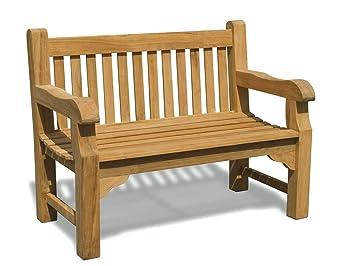Jati Gladstone 2 Seater Garden Bench 4ft Teak Park Bench Brand