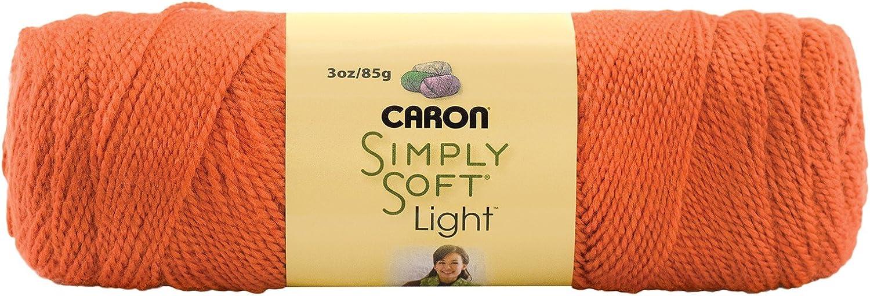 Caron Simply Soft Lights Acrylic DK Knitting Wool Yarn 85g 0017 Pumpkin