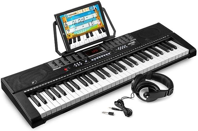 MAX KB2 Teclado electrónico piano de 61 teclas con auricular ...
