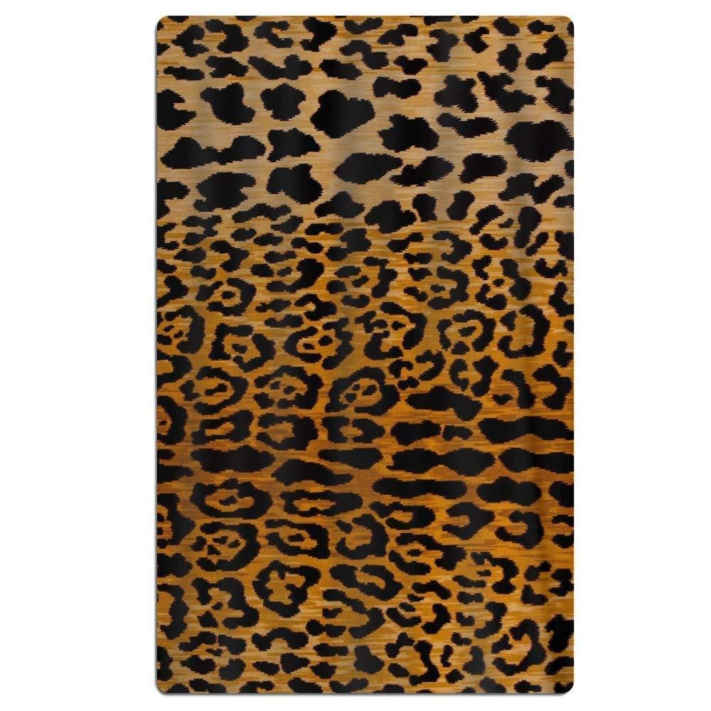 Motivo Leopardato Creative Patterned Morbido Telo Mare 78,7/x 129,5/cm Asciugamano con Design Unico Hustor Asciugamano