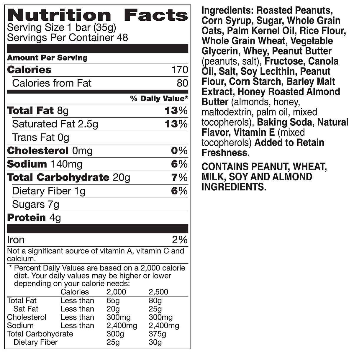 Nature Valley Sweet & Salty Granola Bars, Peanut, 1.2oz Bar, 96 Count by Nature Valley