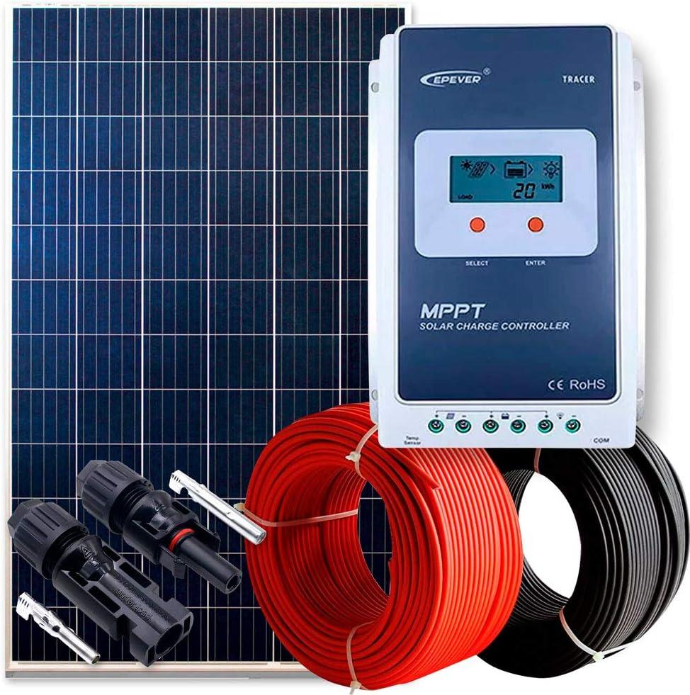 WccSolar Kit 260W 12V y 24V Panel Solar Placa Caravana ...