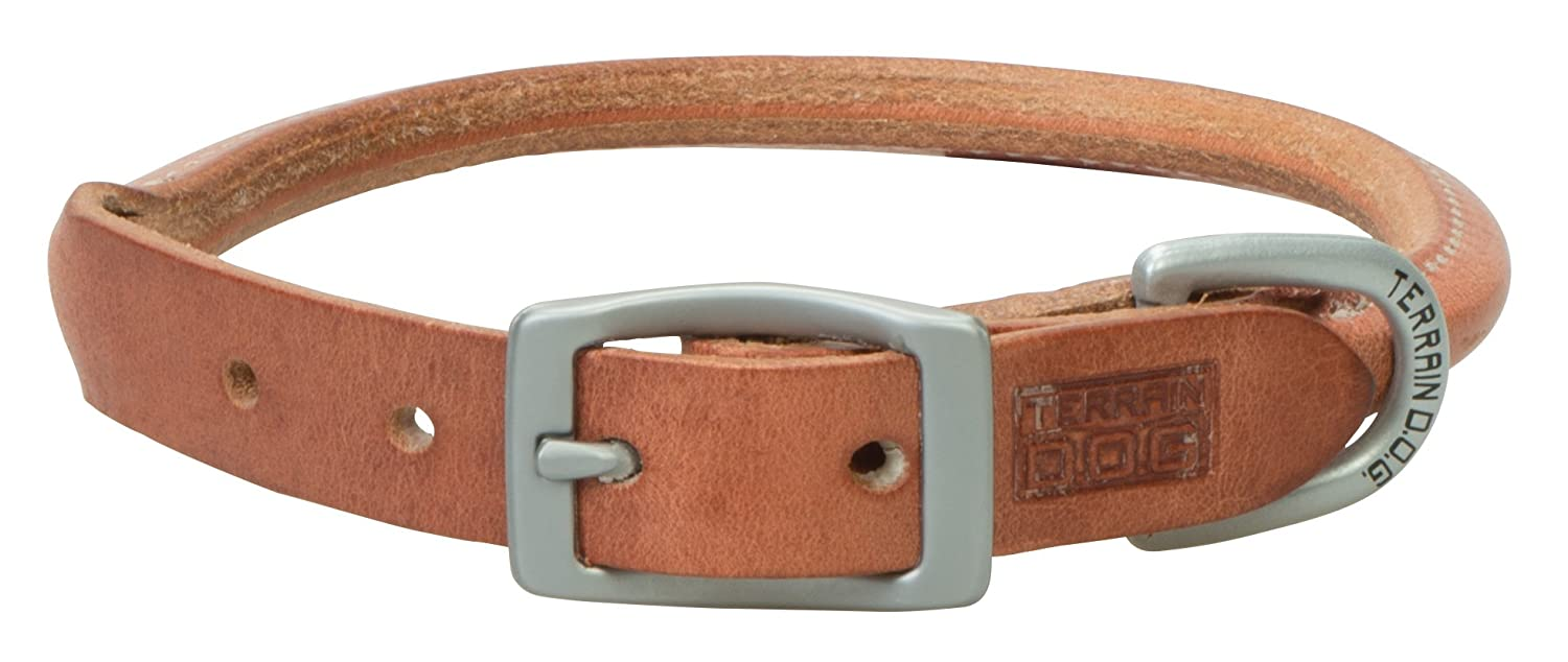 Harness Leather 3 4\ Harness Leather 3 4\ Terrain D.O.G. Harness Leather Rolled Dog Collar