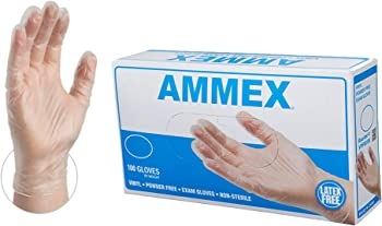 100-Pack 4-mil Latex-Free Vinyl Gloves