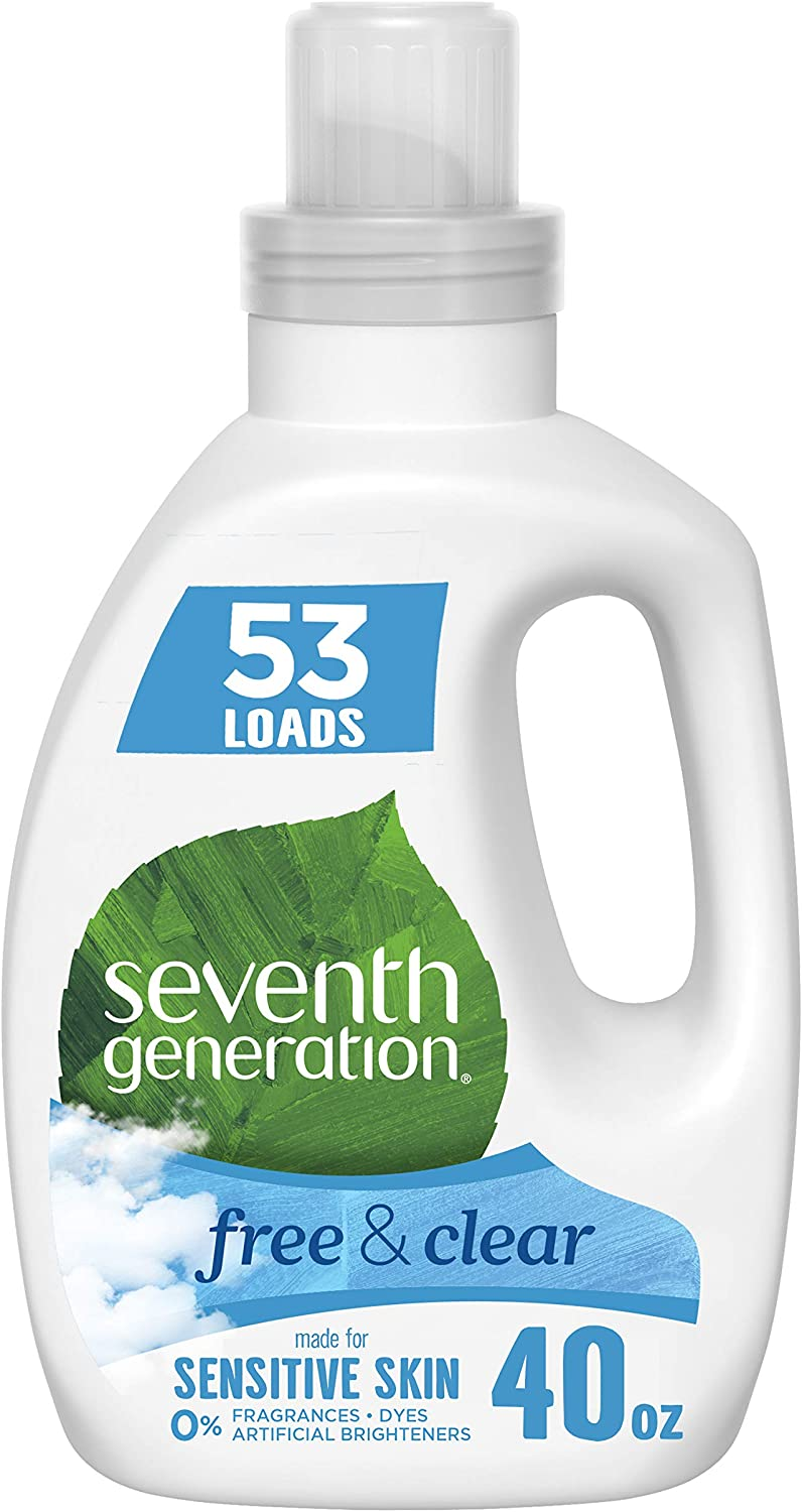 Seventh Generation Concentrated Laundry Detergent, Free & Clear Unscented, 40 oz (53 Loads)