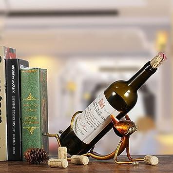 Amazon.com: PeaceLove - Estante de metal para vino, para ...