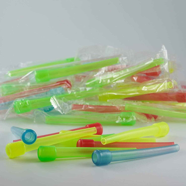 50 Boquillas desechables - Envasadas individualmente para obtener una mayor higiene - Esencial para compartir tu Shisha con tu grupo de amigos - Diferentes colores (Largo)