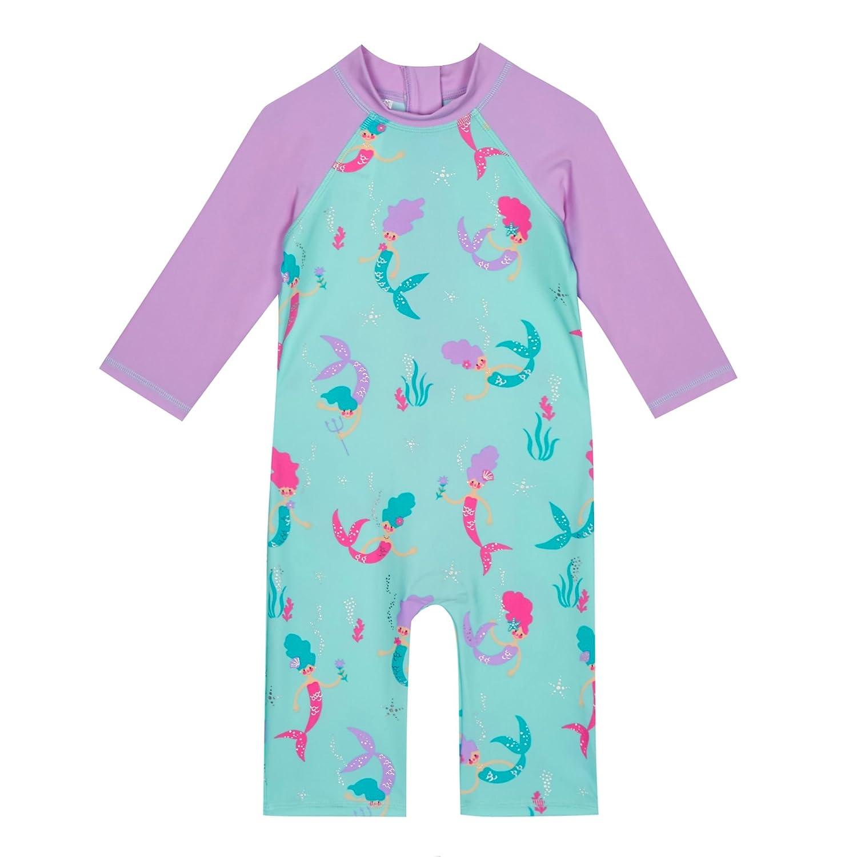 Debenhams Bluezoo Kids Girls\' Multi-Coloured Mermaid Print Sunsafe ...