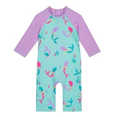 646f903bb481 bluezoo Kids Girls  Multi-Coloured Mermaid Print Sunsafe Blue ...
