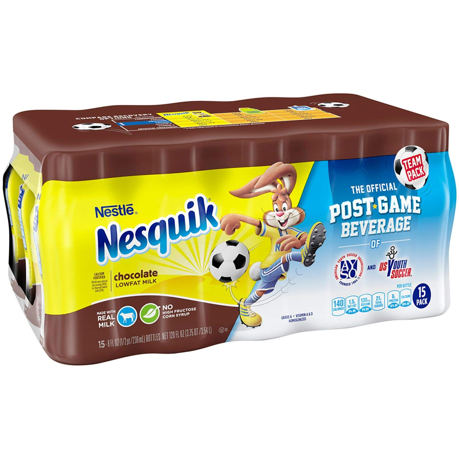 Nesquik Chocolate Low Fat Milk 8 oz. bottles, 15 pk. (pack of 3) A1