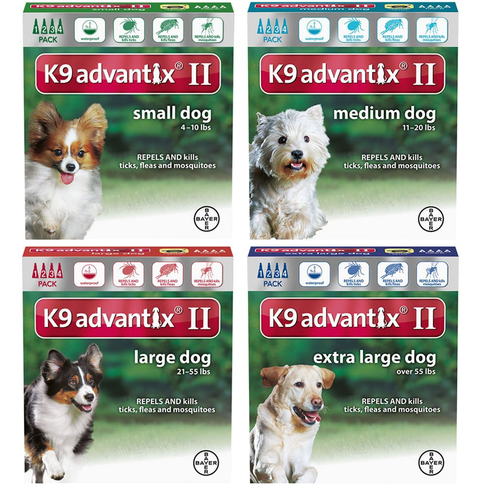 K9 Advantix II for dogs 10 pounds and under - 4 month supply
