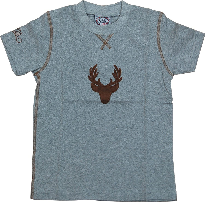 Buben Shirt Hirsch mit aufgenähtem Hirsch Emblem