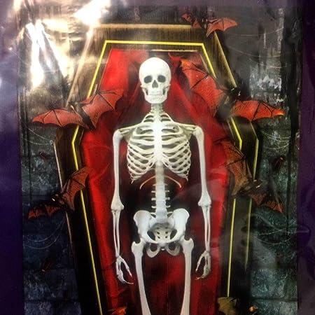 Skeleton Door Cover /& Window Scene Halloween Haunted House Decoration 3pc Set