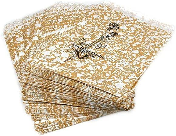 """100 Silver-Tone Rose Jewelry Paper Gift Bags 8.5 x 11/"""""""
