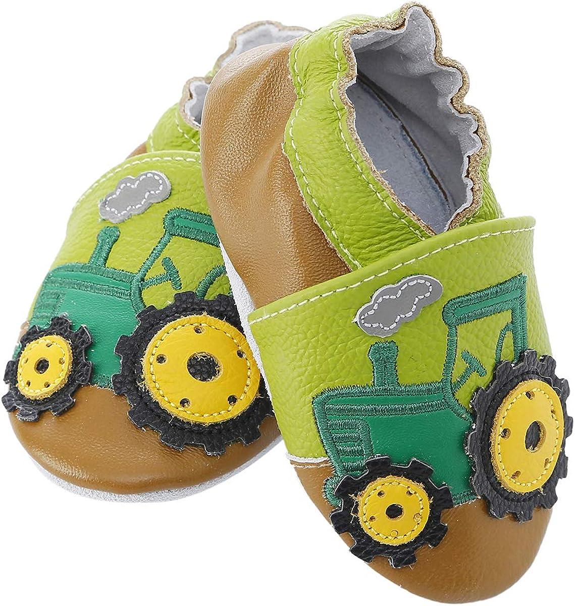 BabyCareV Chaussures de b/éb/é en Cuir Souple avec Mocassins Semelles en Daim pour Enfant