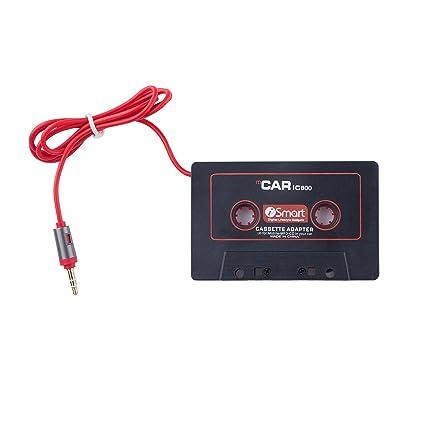 leichtg/ängiges Laufwerk Phone Star Autoradio AUX Kassetten Adapter mit 3,5mm Klinke Kabel Android Smartphones Car Tape kompatibel mit iPhone MP3-Player