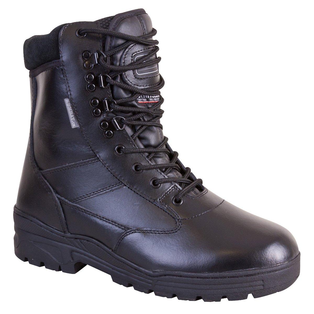Kombat UK Men's All Leather Patrol Boots - Black