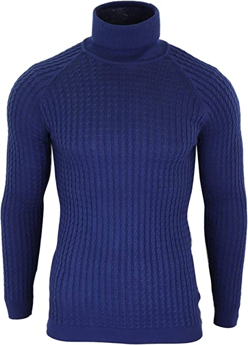 ikao Pull Homme col roulé Coupe Slim Tricot léger Style