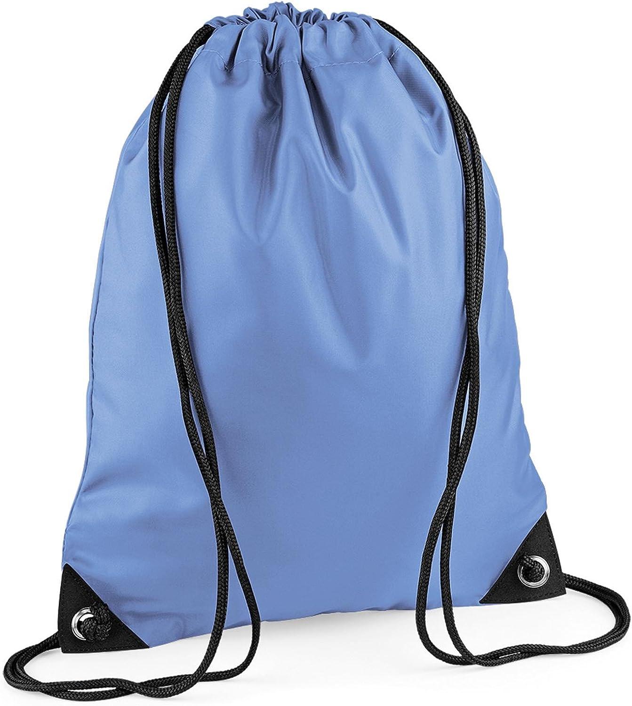 Laser Blue Drawstring//Tote//Backpack//PE//Gym//Swim//School Bag