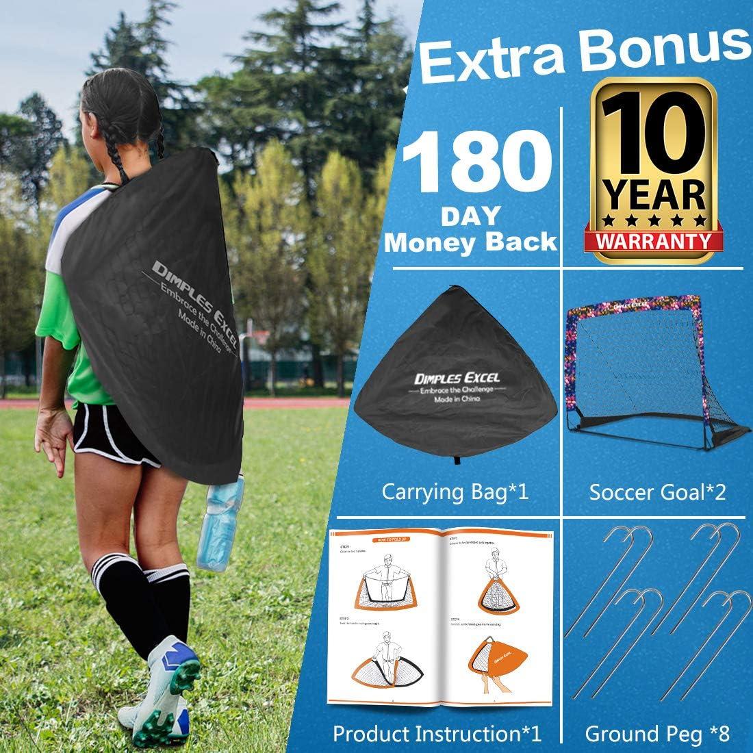 Soccer Goal Pop up Soccer Goal Backyard for Kids Mini Soccer Goal Portable Foldable Football Goal Net Play Practice Training Skills Garden Indoor