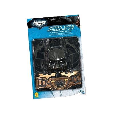 Batman: The Dark Knight Rises: 6 Piece Costume Accessory Set, Child Size (Black): Toys & Games