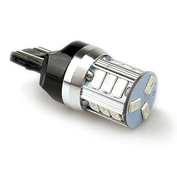 Lumiplux 7443 Bombilla W21 / 5W W3X16Q luz LED 12V Coche Rojo 18X5730SMD para la luz de Freno (Pack de 2): Amazon.es: Coche y moto
