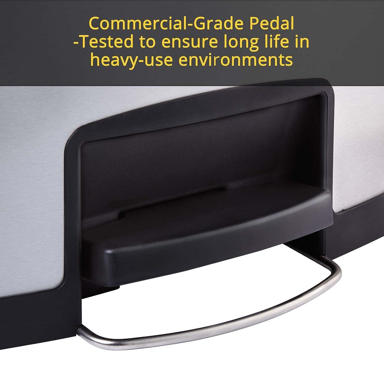 rubbermaid commercial dual liner set for slim jim metal stepon wastebasket dual liner for frontstep 8gallon blackblue