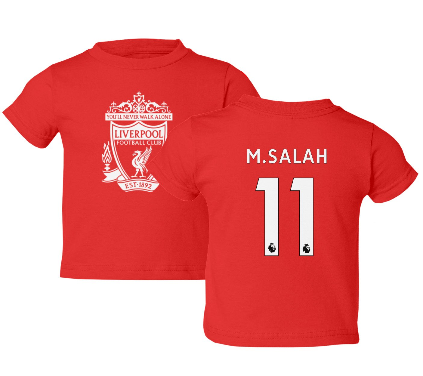 Amazon.com  Tcamp Liverpool  11 Mohamed SALAH Premier League Little Kids  Girls Boys Toddler T-Shirt  Sports   Outdoors db34e0b33