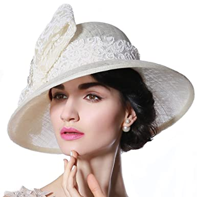 d87fb67ac June's Young Women Sinamay Hats Wedding Party Hat Church Hat Ascot ...