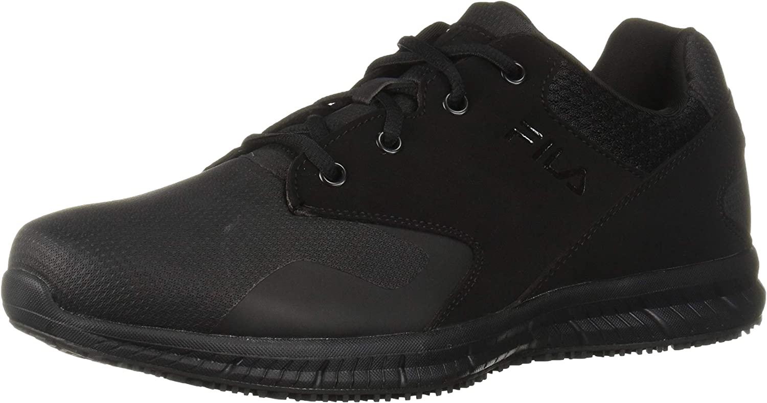 Fila Men's Memory Layers Slip Resistant Work Shoe Food Service