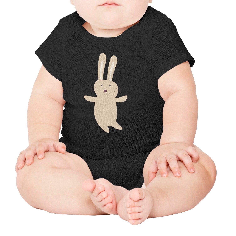 1cd01eccfc4c Amazon.com  Rabbit Cartoon Cute Animal Bunny Short Sleeve Baby Onesies  Newborn Clothes  Clothing