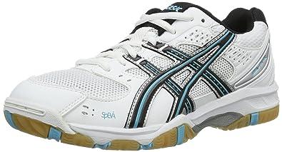 Asics Gel Task, Chaussures de volleyball femme, Blanc (Hite/Silve), 41