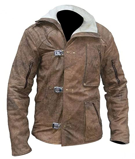 Spazeup B.J. Fur Brown Leather Jacket at Amazon Mens ...