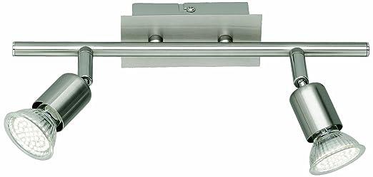 53 opinioni per Reality R82942107 Nimes Barra a LED, 2 Spot, Acciaio, 30 cm