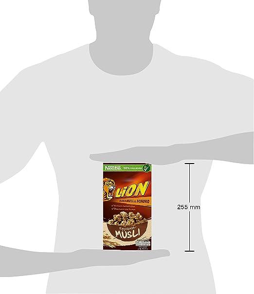 Lion Cereales Granola Copos de Avena Integral y Trigo, con Chocolate y Caramelo - 300 gr: Amazon.es: Alimentación y bebidas